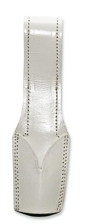 Aufschiebetasche für Gürtel, aus weissem Leder