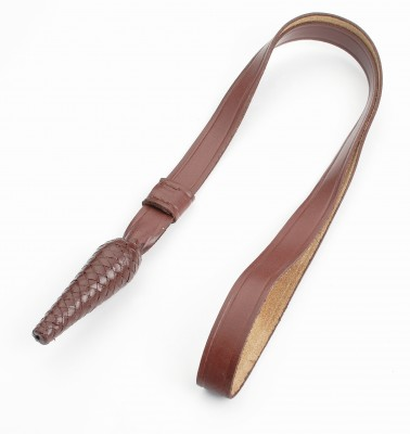 Brown leather sword knot