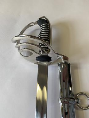 Armeesäbel , venrickelte Stahlscheide mit 1 Ring , 1 Reitöse